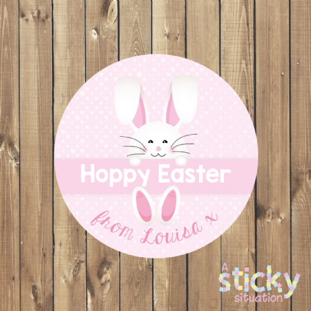 Personalised Easter Stickers - Easter Bunny Design